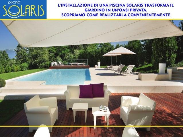 Claudio busatta piscine solaris piscine solaris la for Trasforma un semplice terreno in un colorato giardino