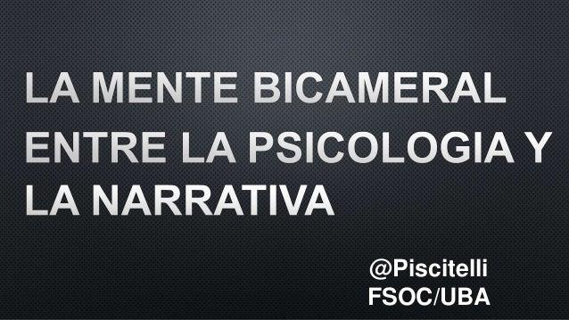@Piscitelli FSOC/UBA