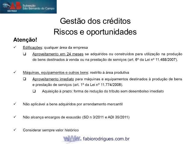 fabiorodrigues.com.br Gestão dos créditos Riscos e oportunidades