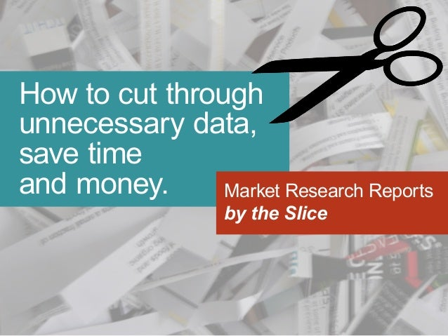 How to cut through unnecessary data, save time and money. Market Research Reports by the Slice
