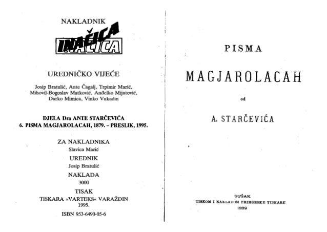 Pisma Mađarolaca Ante Strčevića