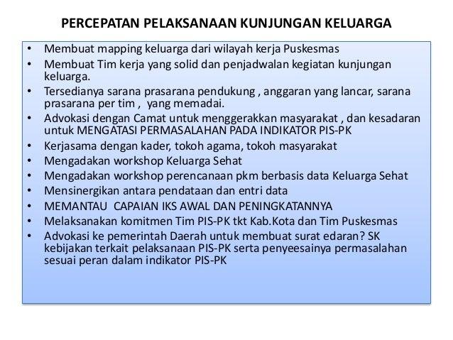 Strategi Peningkatan IKS Program Indonesia Sehat Dengan PIS PK