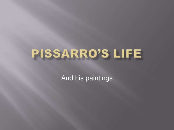 And his paintings