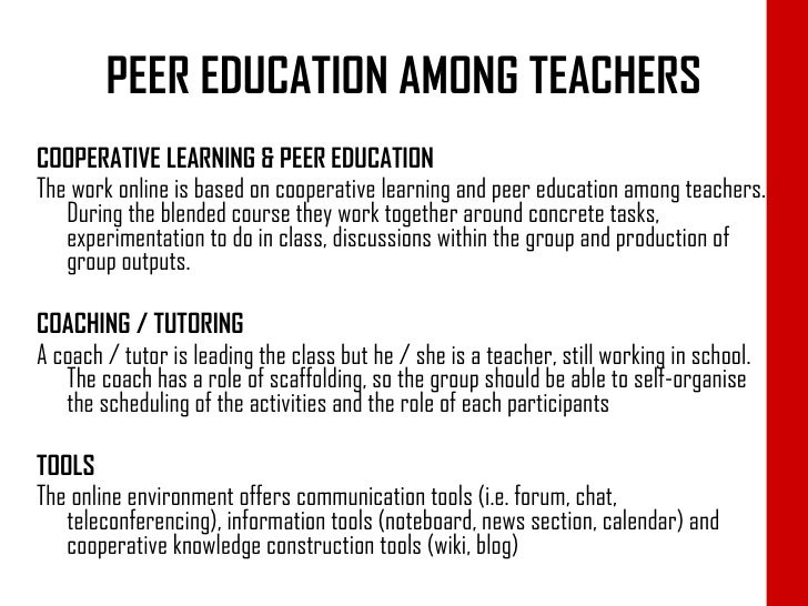 Peer Education In The Italian School System