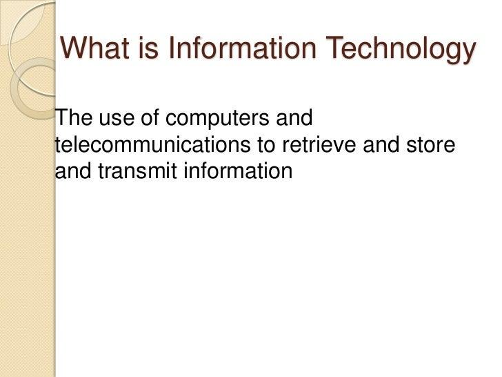 Principles of Information Technology Slide 2