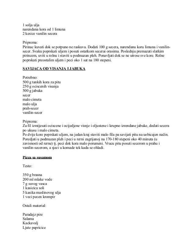 1 solja ulja narendana kora od 1 limuna 2 kesice vanilin secera Priprema: Pirinac kuvati dok se potpuno ne raskuva. Dodati...