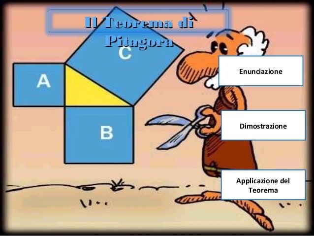Enunciazione Dimostrazione Applicazione del Teorema Il Teorema diIl Teorema di PitagoraPitagora