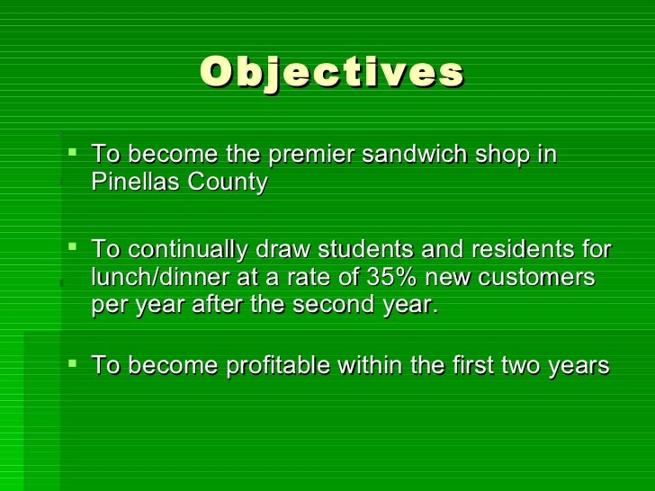 How to Run a Sandwich Shop