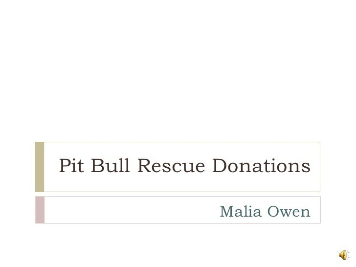 Pit Bull Rescue Donations<br />Malia Owen<br />
