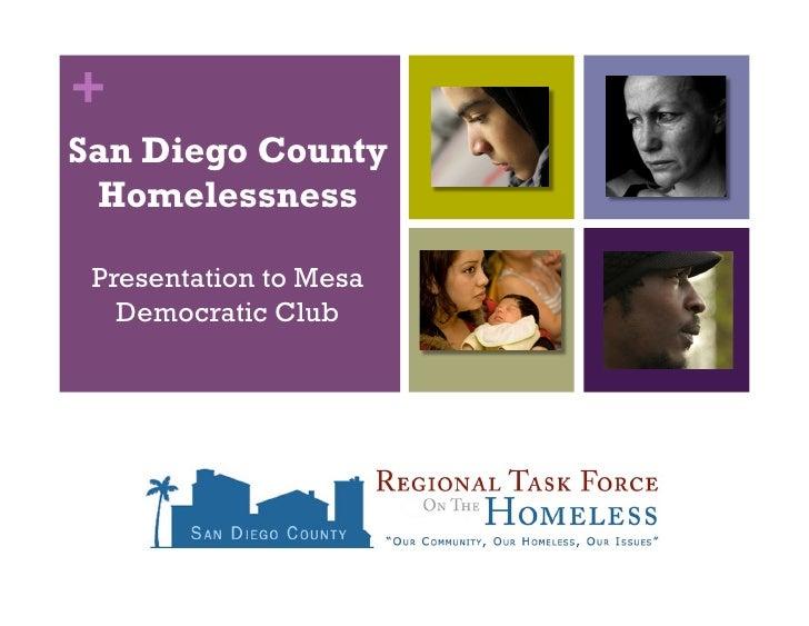 +San Diego County Homelessness Presentation to Mesa   Democratic Club