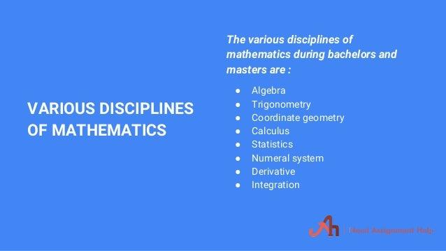 mathematics assignment help 7 various disciplines of mathematics