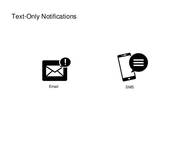 Text-Only Notifications Email SMS