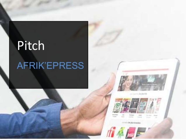 Pitch AFRIK'EPRESS 17 10 2015