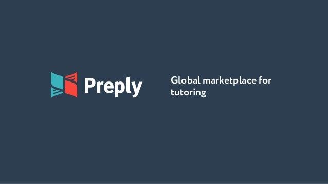 Global marketplace for tutoring