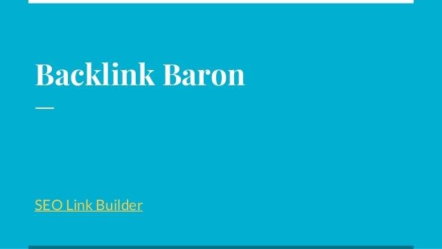 Backlink Baron SEO Link Builder