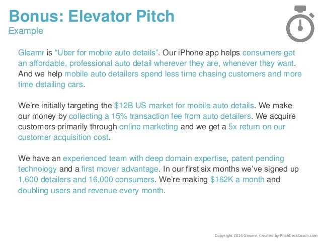 Amazing Pitch Deck Template For Startups . Elevator Pitch Template