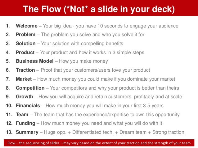 Pitch deck template for startups pitch deck template on slideshare 2 flashek