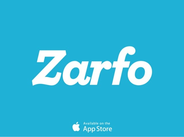 Zarfo Pitch Deck 1st July 2014