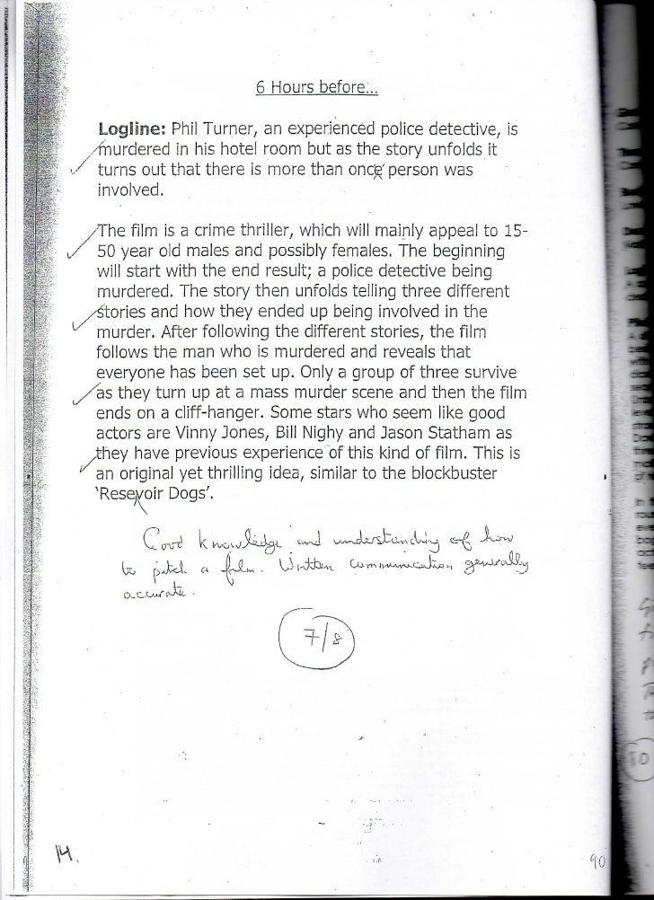 GCSE Film Studies: Pitch examples