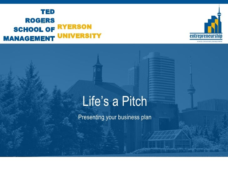 Life's a Pitch Presenting your business plan