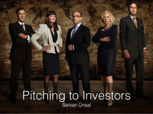 Serkan Ünsal Pitching to Investors Serkan Ünsal