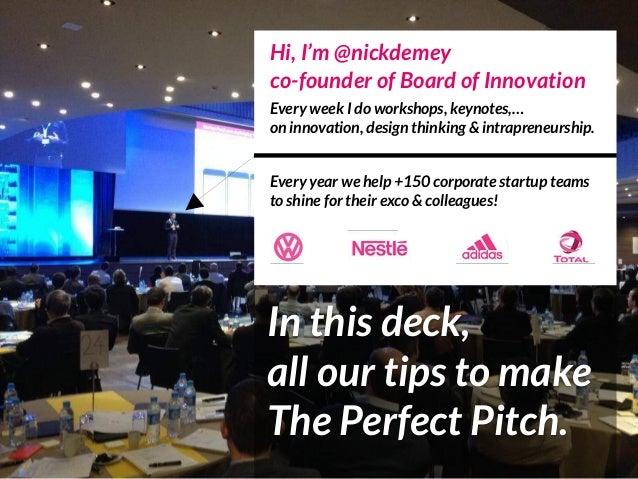 Hi, I'm @nickdemey co-founder of Board of Innovation Every week I do workshops, keynotes,… on innovation, design thinking...