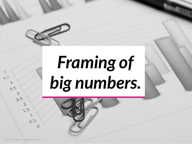 Framing of big numbers. Flickr cc Marco Digitalstream