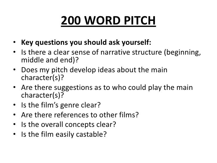 Pitching a film