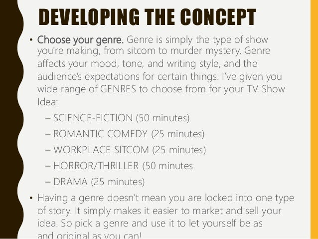 Powerpoint Pitching A Tv Show