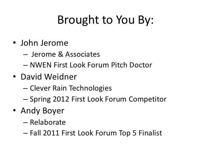 Pitching New Products Slide 2