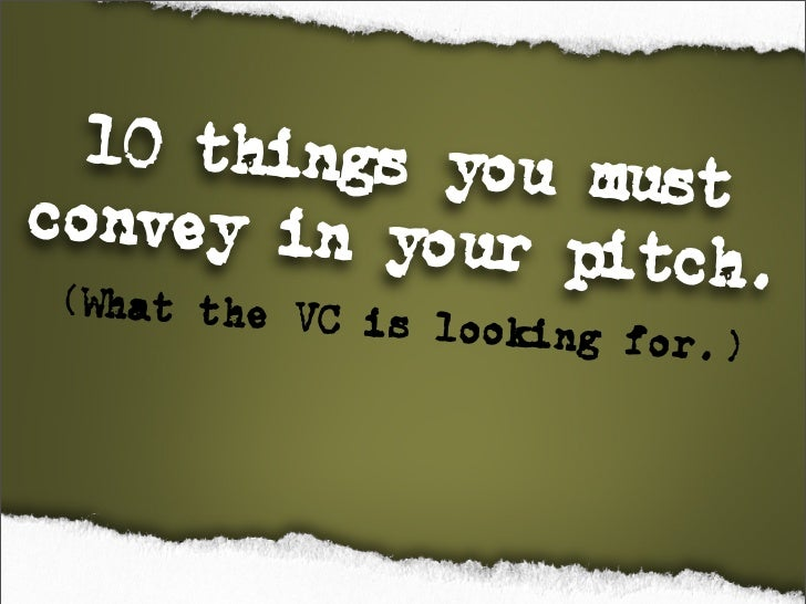 Pitching Tips: presentation tips from The Pitching Coach Slide 2