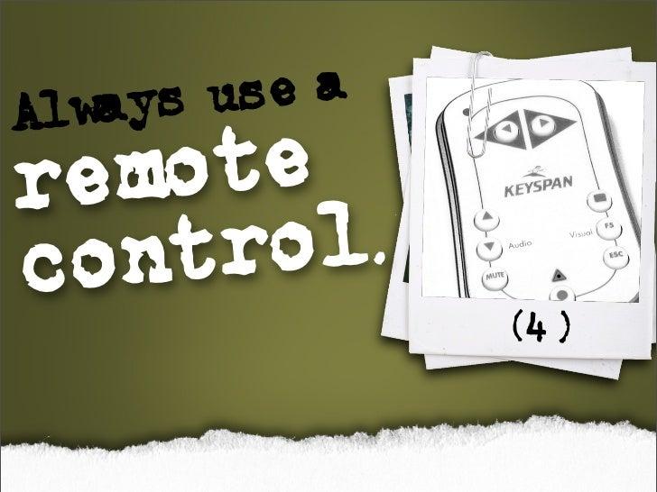 w ys Al a   use a remote control.                (4)