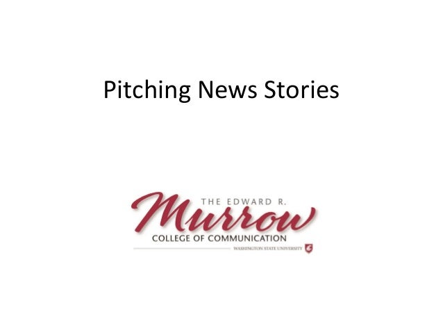 Pitching News Stories