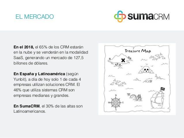 EL MERCADO En el 2018, el 65% de los CRM estarán en la nube y se venderán en la modalidad SaaS, generando un mercado de 12...