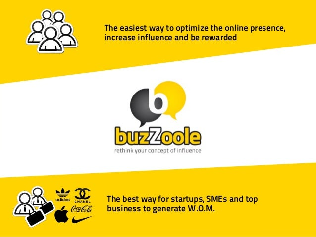 The easiest way to optimize the online presence,increase influence and be rewardedThe best way for startups, SMEs and topb...
