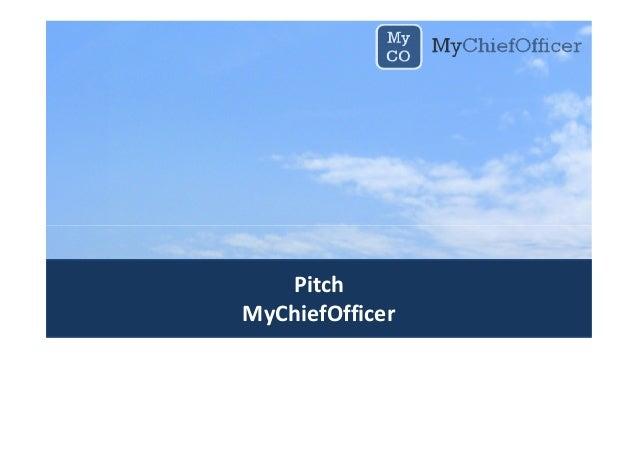Pitch MyChiefOfficer