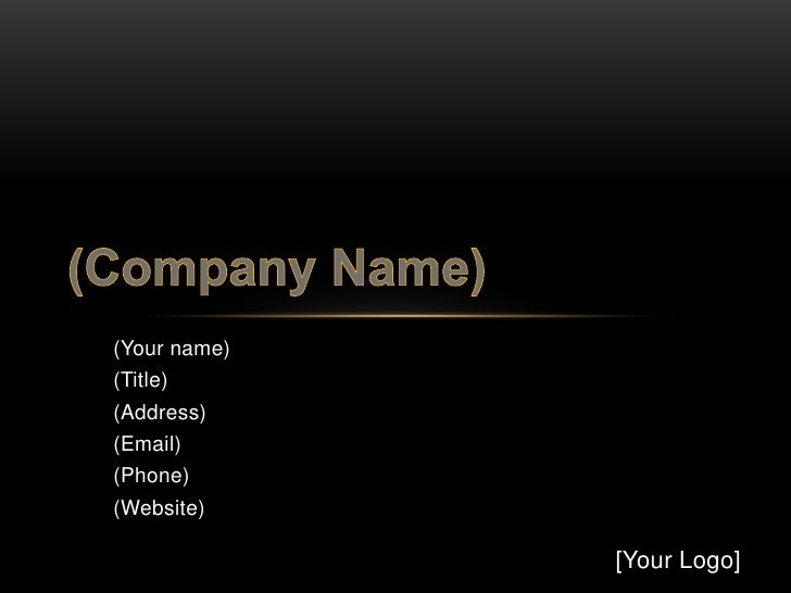 (Your name)(Title)(Address)(Email)(Phone)(Website)              [Your Logo]