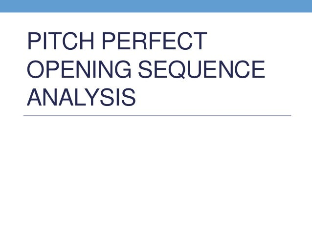 "an introduction to the analysis of the perfect pitch When beyonce's brisk female-empowerment jam ""run the world (girls)"" kicks off a key musical number in ""pitch perfect 2,"" it plays as something of a mission statement for the film itself."
