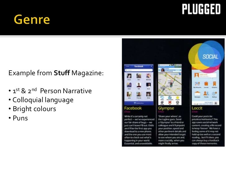    Technology & GadgetsExample from Stuff Magazine:  Biggest gap was for technology magazines• 1st & 2on T3Person Narrat...