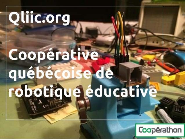 Qliic.org Coopérative québécoise de robotique éducative