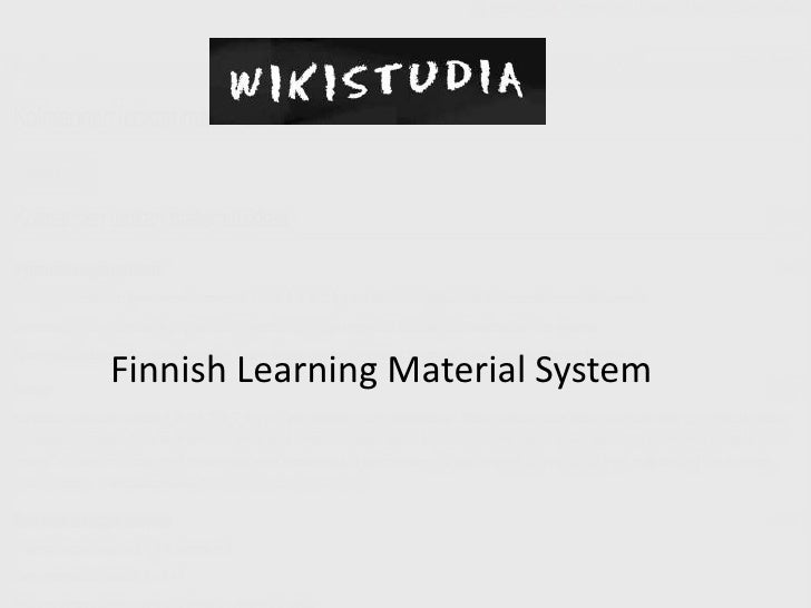 Finnish Learning Material System