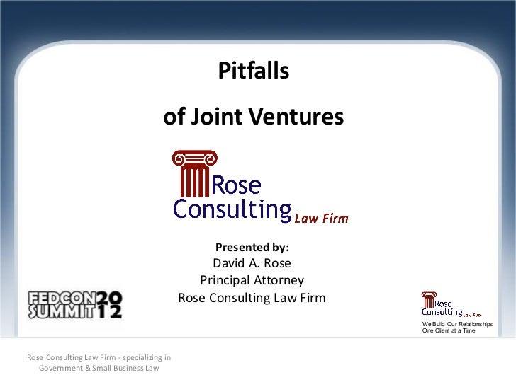 Pitfalls                                       of Joint Ventures                                                   Present...