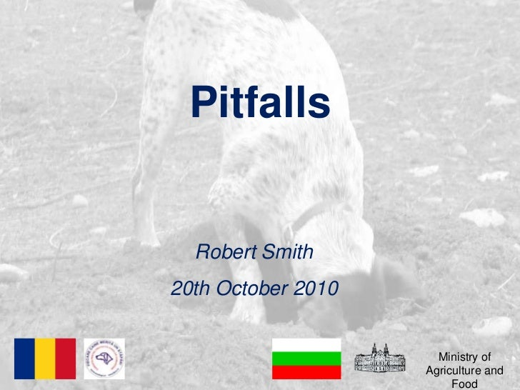 Pitfalls<br />Robert Smith<br />20th October 2010<br />Ministry of Agriculture and Food<br />