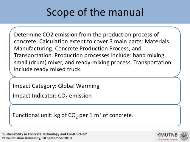 Guideline for Calculating CO2 Emission from Ready Mixed