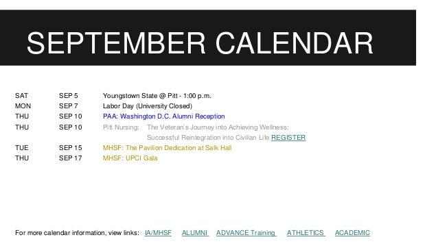 Pitt Academic Calendar.Pitt Advancement News July 2015