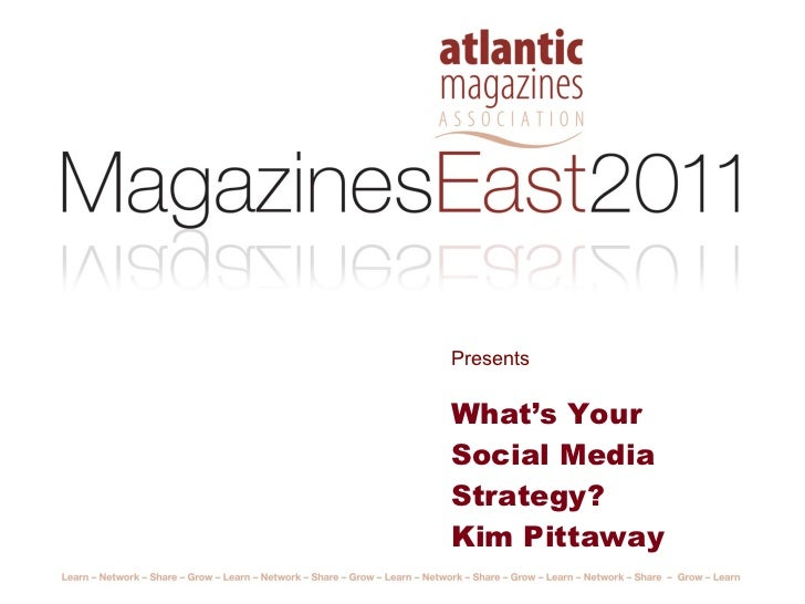 Presents What's Your Social Media Strategy? Kim Pittaway