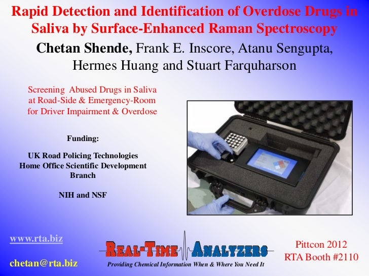 Rapid Detection and Identification of Overdose Drugs in  Saliva by Surface-Enhanced Raman Spectroscopy   Chetan Shende, Fr...