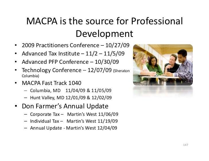 MACPAisthesourceforProfessional                      l                  Development •   2009PractitionersConferenc...