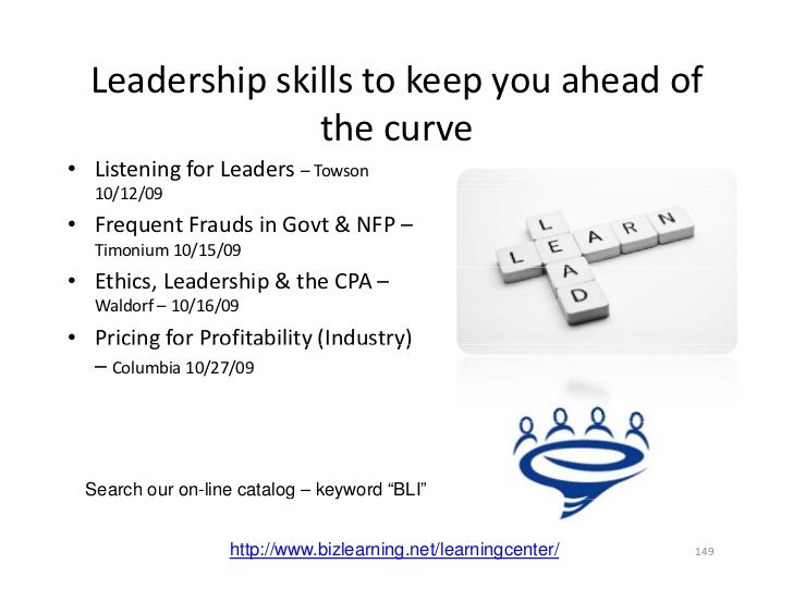 Leadership skills to keep you ahead of                    h                 the curve • Listening for Leaders – Towson    ...