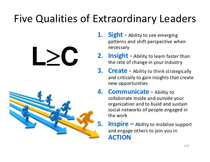 Five Qualities of Extraordinary Leaders                  1. Sight ‐ Ability to see emerging                       patterns...